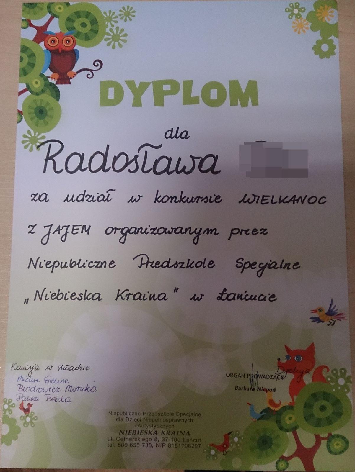 Wyróżnienie dla Radosława