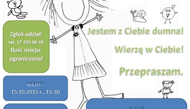 Zaproszenie na warsztaty dla rodziców