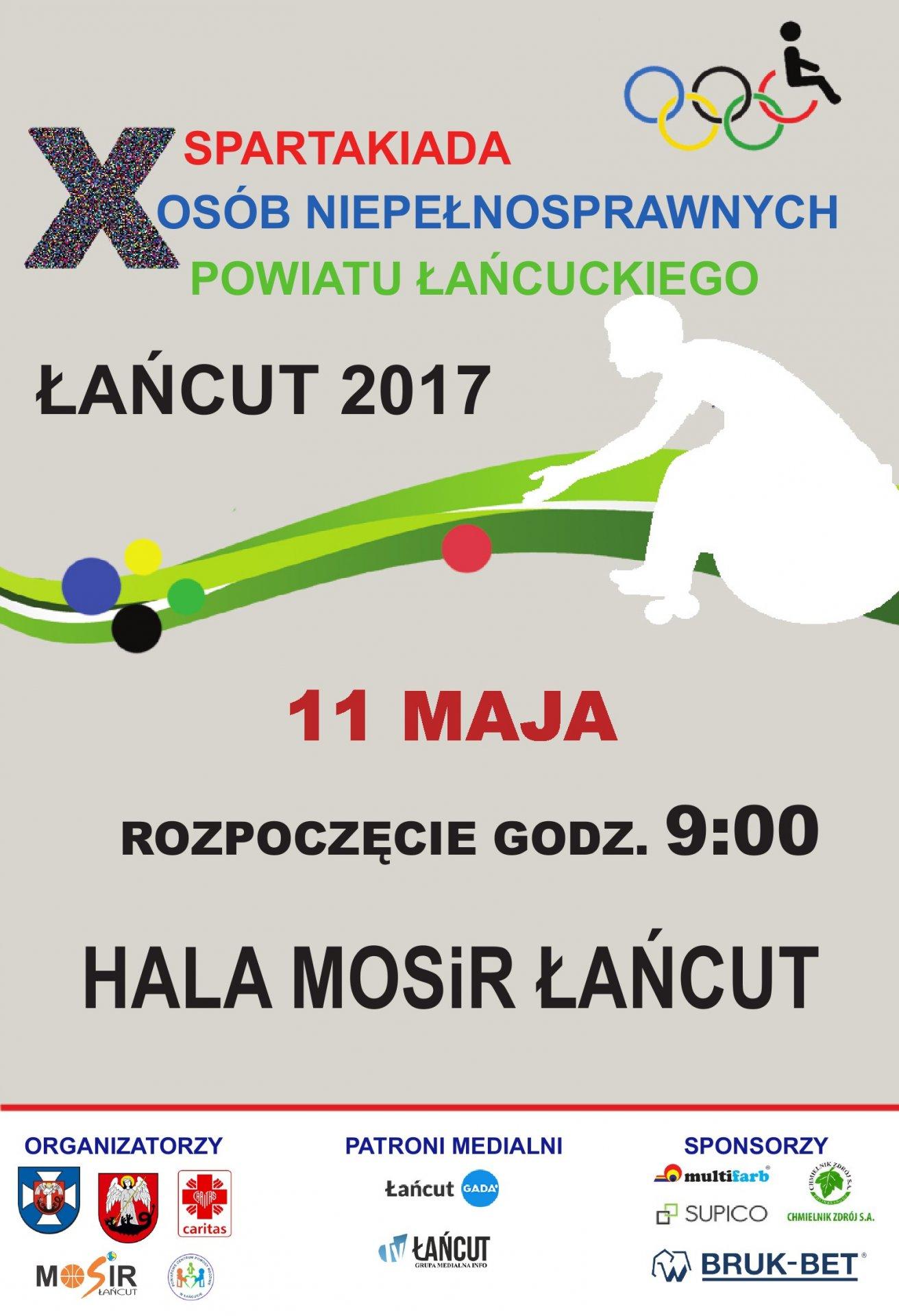Zaproszenie na X Spartakiadę Osób Niepełnosprawnych Powiatu Łańcuckiego